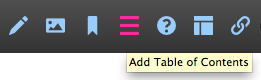 Add Table of Contents toolbar